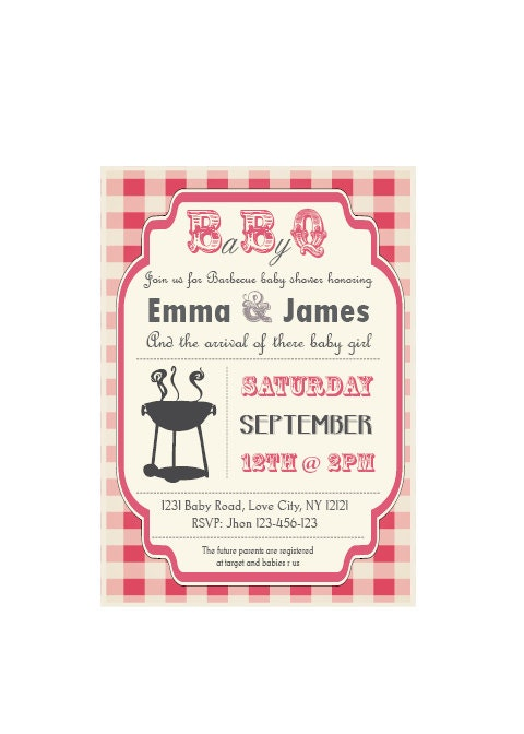 baby q baby shower bbq invitation couples boy or girl