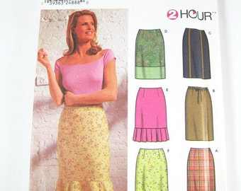 Simplicity Pattern 9696 - Misses' Skirt in 6 Variations - SZ 4/6/8/10