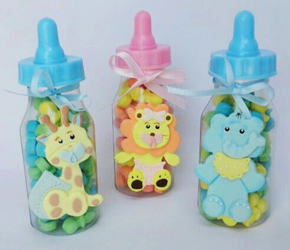 Baby bottle party favor baby girl party favor baby shower bags baby