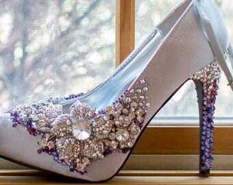 "Custom ""Madison"" Swarovski Rhinestone Shoes"