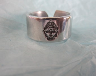 Buddha Ring...hand stamped in pure food safe alluminum
