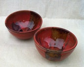 Set of 2 Red Icecream Bowls