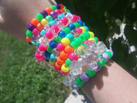 Kandi Grab Bag - Ten Cute And Neon Rave Bracelets