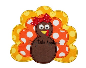 Digital Machine Embroidery Design - Turkey Applique