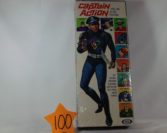 1966 ideal Captain Action figure and box