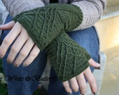 MERINO WOOL/BAMBOO Fingerless Gloves. Custom size. Custom color. Gloves. Wrist Warmers. Accessory