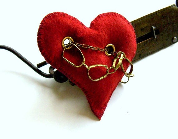 Pendant heart, leather heart, hand sewn RESERVATION