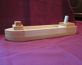 Hand Made Wooden Great Lakes Cargo Ship