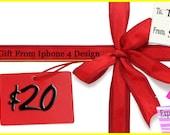 Iphone 4 Design 20 Dollar Gift Certificate