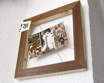 Magnetic walnut wood picture frame
