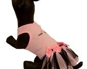 Pink Dog Woof Tank with Matching Tutu