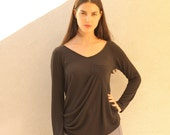 Long Sleeve Black Shirt, Modern Shirt, Winter Shirt, Winter Fashion