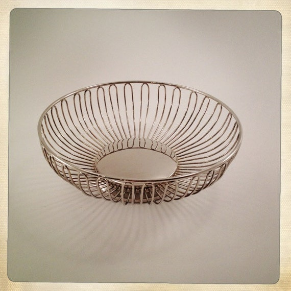 Godinger Silver Art Co Basket : Vintage silver bread fruit basket plated by