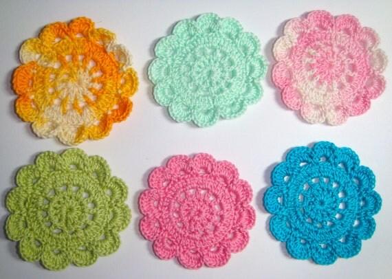 Crochet Japanese Flower Large Set Of 6