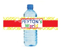 Elmo's World Sesame Street themed Water Bottle Labels - Customized Digital File