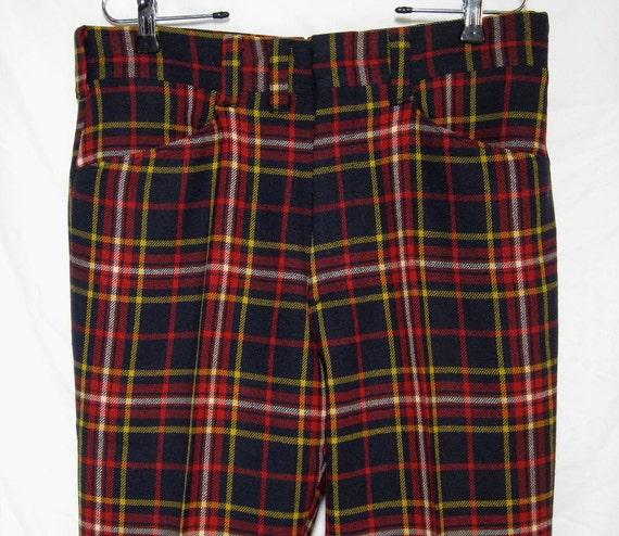 Vintage Pendleton Tartan/Plaid Wool Pants Sz.34 1960's r/y