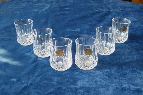 Cristal d 39 arques vintage french 39 longchamp 39 shot - Verres cristal d arques longchamp ...