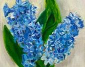 "Original framed oil painting ""Hyacinth"" 15cm x 15cm/ 5,9"" x 5,9""  on panel"
