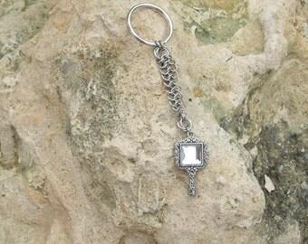 Mirror Mirror chainmail key chain