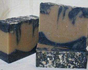 Citrus Beer, Cold Pressed Soap, Oatmeal, Charcoal, Essential Oils
