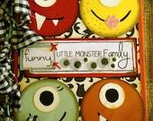 Funny Little Monster Family