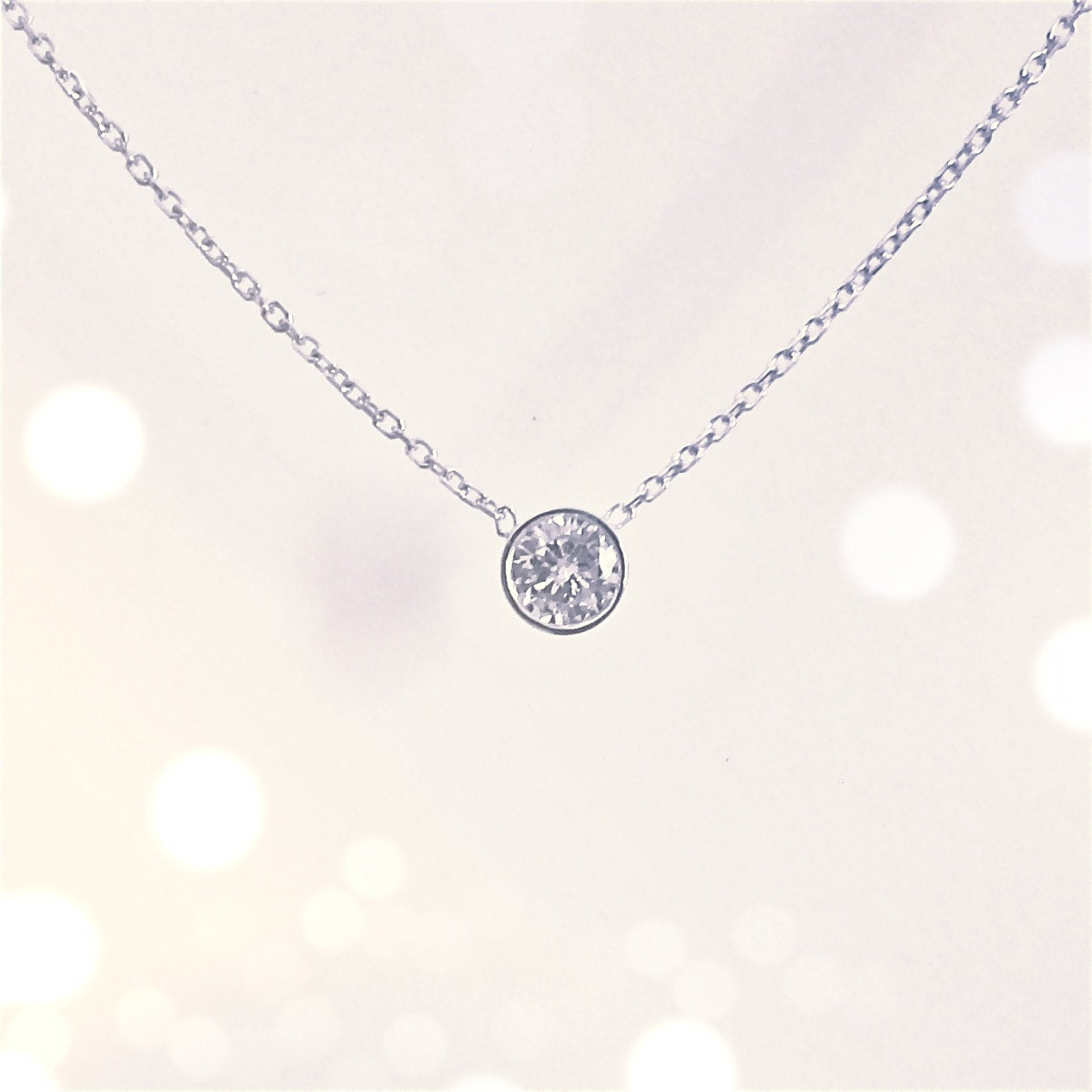 Diamond Necklace Bezel Setting