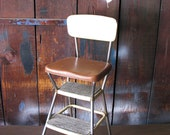 Vintage Cosco Step Stool Chair, Mid Century Modern