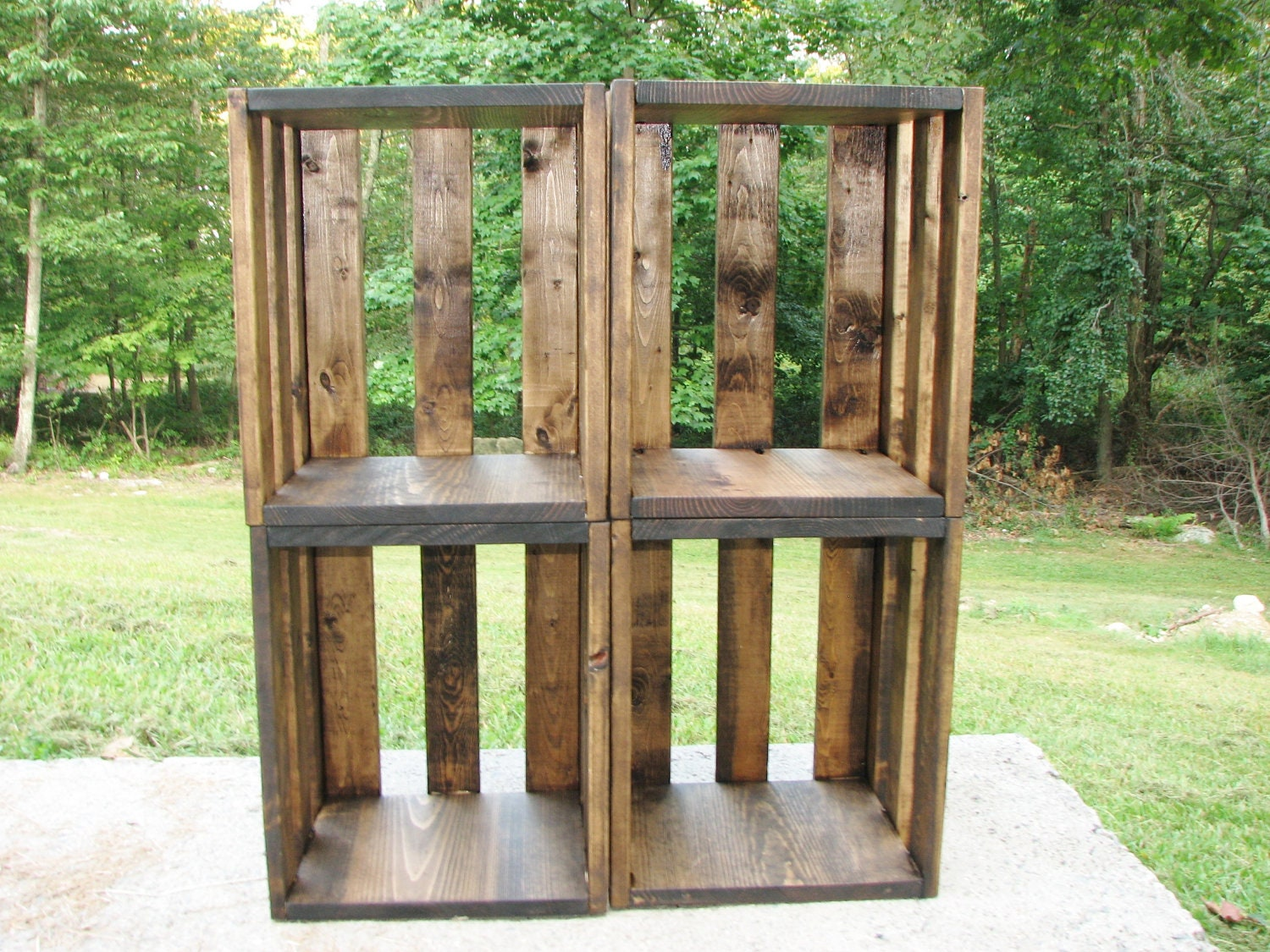 Crate shelf free shipping wood furniture rustic storage