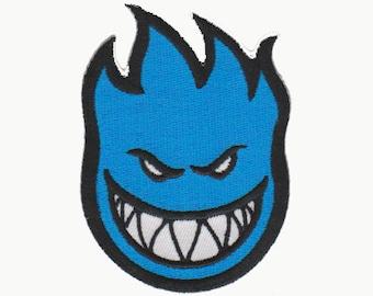 skateboard patch blue spitfire
