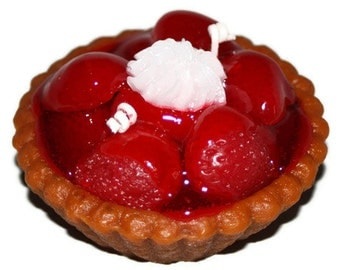 Strawberry Pie Candle,  Dessert Candle, Highly Scented Realistic Bakery Candle
