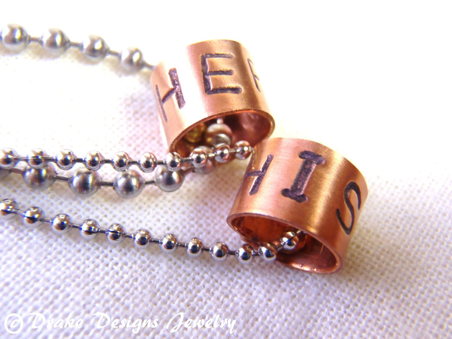 Couple jewelry matching couples necklace personalized with for Couples matching jewelry sets