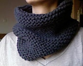 Neckwarmer / Circle Scarf hand knitted