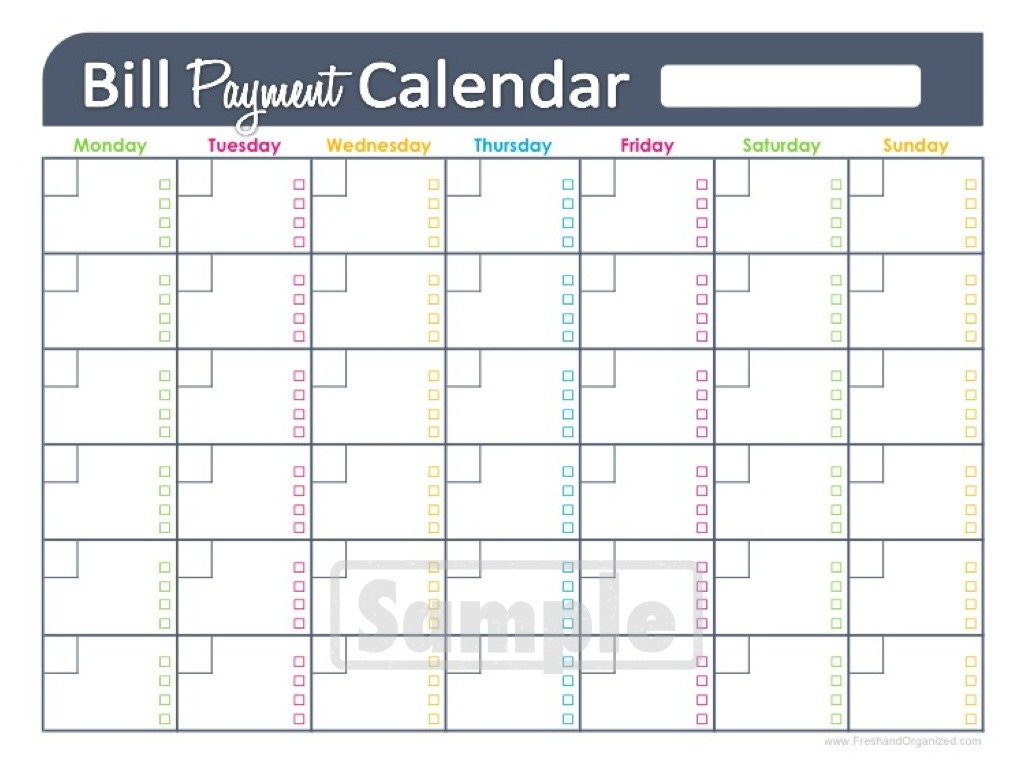 forms printable bill how to make a bill calendar ehow LyTGBfLG