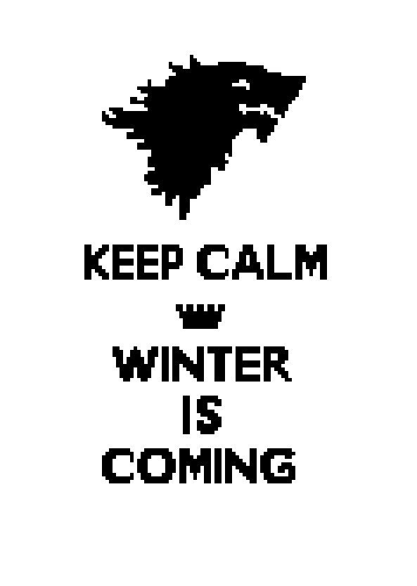 Keep Calm Winter is Coming Cross-Stitch Pattern