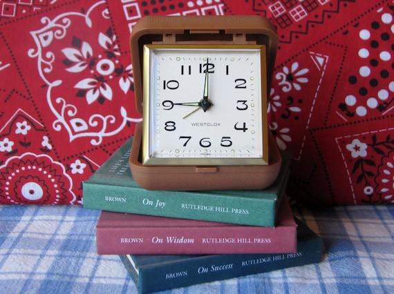 Alarm Clock Westclox Wind Up Working Travel Vintage 1960's