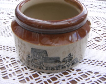 Antique Pearsons Of Chesterfield Stoneware Plum Preserves Jar, Pot,