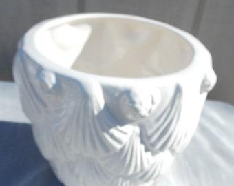 Vintage Sea Shell Ceramic Pot