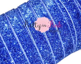 "5/8"" Royal Blue Glitter Elastic- Elastic  By the Yard....Glitter Elastic...Blue Elastic Glitter....Blue Glitter Elastic"