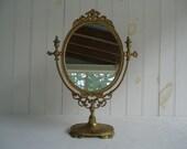 Reserved for Natalia:  Free-Standing Mirror, Wedding Decor, Alice in Wonderland Wedding, Cottage Chic Mirror