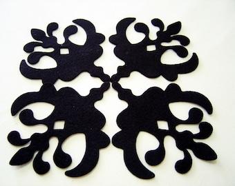 Felt Decorative Accent - 8 Pieces -Felt Die Cut Decorative Accent