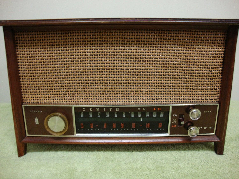 Zenith table top radio mid century for Zenith sofa table