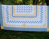 PDF Quilt Pattern, Night Flight,  twin and queen size