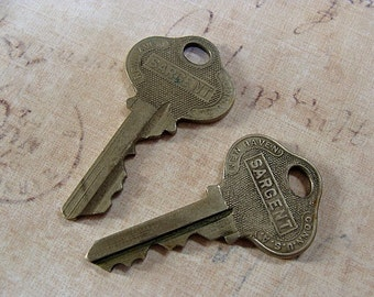 2 Genuine Vintage Sargent Keys