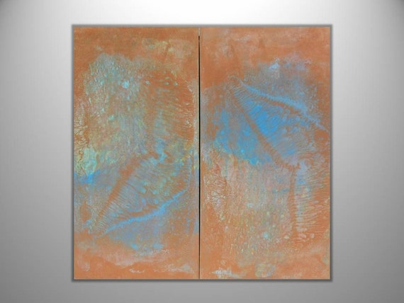 """Abstract Painting """"Chasing Rays"""" - Original Art from Ease the Soul Artworks by Jackson P"""