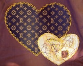 Adult - Louis Vuitton Inspired Double Heart T-shirt