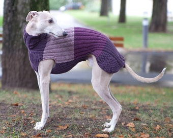 Knitting Pattern For Whippet Coat : Long Italian Greyhound Sweater / Custom Colors by SleepAndHound