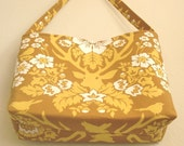 Medium Mustard Yellow cotton fabric purse Joel Dewberry Deer Valley 10% off