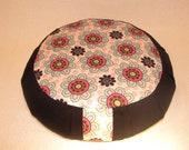 Flower Zafu meditation prenatal pillow or yoga cushion with handle