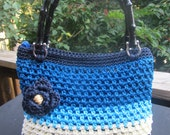 Crochet Purse with bamboo handles