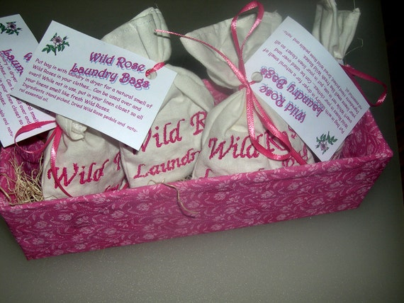 Herbal Wild Rose Dryer Bag or Sachet - FREE Continential US SHIPPING